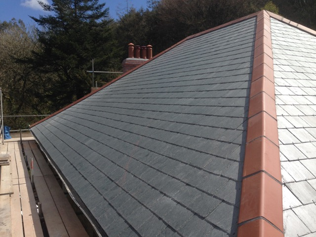 Cornwall flat roofs and slate roofs.