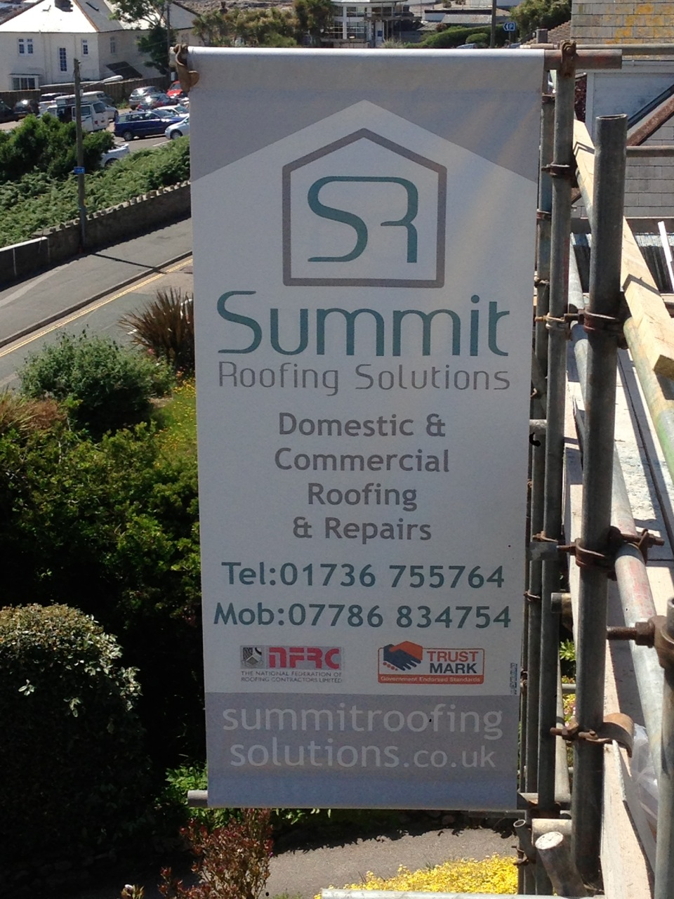 cornwall roofing work banner – new for 2014