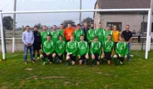 Adam, far left, with the Hayle team in their Summit sponsored kit.